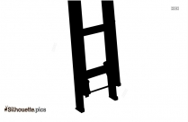 Climbing Ladder Silhouette Image