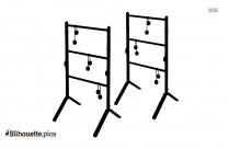 Cartoon Foosball Tables Silhouette