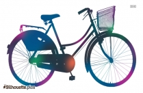 Ladies Bicycle Silhouette Background Image