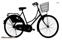 Ladies Bicycle Silhouette Background