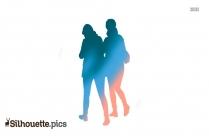 Wrist Watch For Girls Silhouette