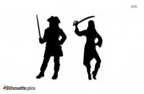 Lady Pirate Silhouette Illustration