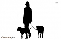 Person Walking Alone Silhouette Drawing