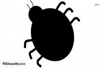 Ladybug Beetle Silhouette Clipart