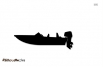 Small Motor Boat Silhouette Picture