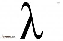 Lambda Sign Silhouette