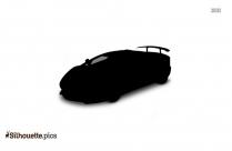 Lamborghini Car Silhouette Vector