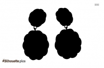 Xo Earrings Clipart ||  Designer Hanging Earrings Silhouette