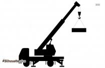 Tower Construction Crane Silhouette Image