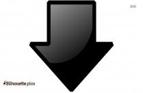 3d Arrow Silhouette Free Vector Art