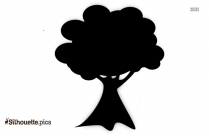 Cartoon Tree Silhouette Drawing