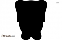 Cartoon Picture Of An Elephant Clipart Silhouette