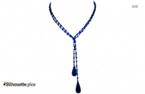 Beaded Lariat Necklace Silhouette Picture