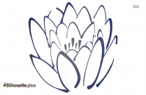 Larkspur Flower Silhouette Clip Art