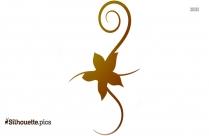 Larkspur Flower Silhouette Image