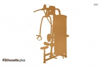 Lat Pulldown Mid Row Fitness Equipment Silhouette