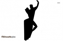 Black Tango Dancer Silhouette Image