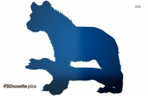 Laughing Hyena Clipart Silhouette