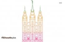 Lds Temple Silhouette Clip Art