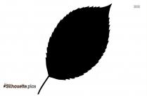 Single Leaf Silhouette Outline