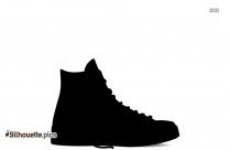 Black Kicks Shoes Silhouette Image