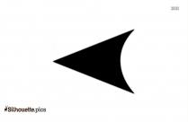Left Arrow Head Silhouette