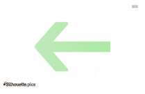 Turn Left Arrow Icon Silhouette Vector And Graphics