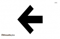 Left Arrow Silhouette, Left Directional Arrow Clipart