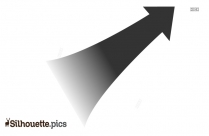 Left Side Up Arrow Transparent Silhouette