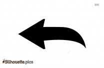 Left Turn Arrow Silhouette