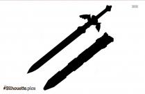 Legend Of Zelda Master Sword Silhouette Clip Art, Drawing