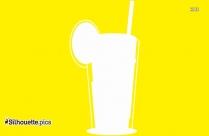 Tiki Bar With Drinks Silhouette