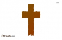 Holy Cross Silhouette Art