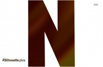 Letter N Capital Clipart Silhouette