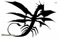 Simple Dragon Silhouette Clipart