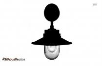 Light Bulb Silhouette Black And White
