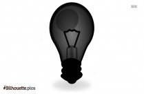Light Bulb Silhouette Background