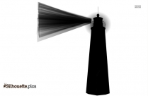 Light House Tower Vector Silhouette