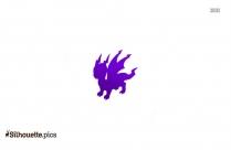Lightning Dragon Silhouette Clip Art