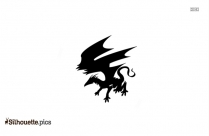 Lightning Dragon Silhouette Image