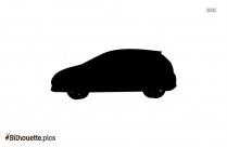 Cartoon Luxury Car Vector Silhouette Image