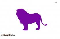 Beautiful Lion Silhouette Free Vector Art