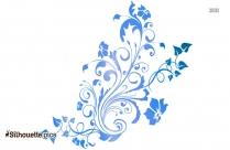 Flower Designs Drawings Silhouette Free Vector Art