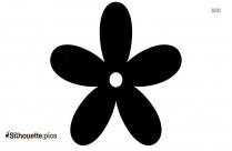 Flower Garland Silhouette