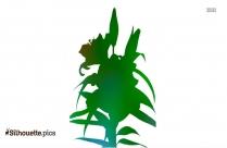 Gladiolus Flower Silhouette