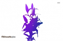Gladiolus Flower Clipart Silhouette Image