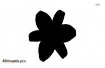 Cosmos Flower Silhouette Free Vector Art