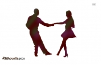 Lindy Hop Style Dance Silhouette