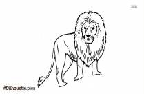 Lion Black And White Silhouette Drawing