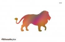 Lion Cartoon Silhouette Clipart